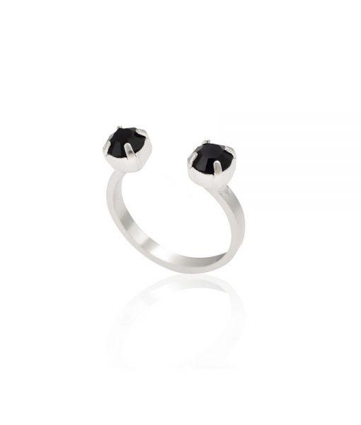טבעת מונקי בולס כסף