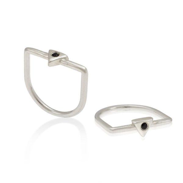 טבעת סקיני קריסטל