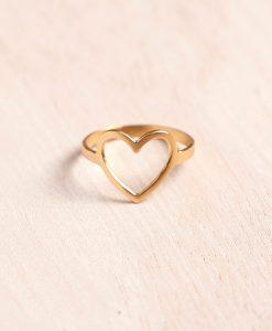 טבעת לב חלול M