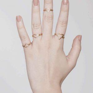 טבעת לב חלול S