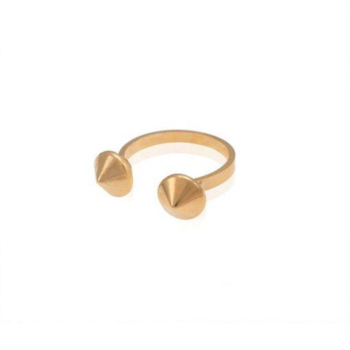 טבעת מונקי צ'ינג זהב