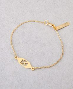צמיד X שרשרת לאישה 24K או כסף - צמידים