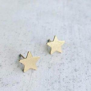 עגילי כוכב זהב