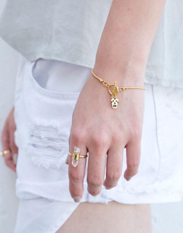 צמיד מיגל גולגולת: צמיד גולגולת זהב או כסף| צמידים