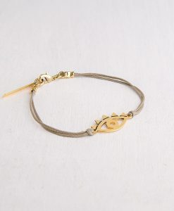 צמיד EYE עם תליון עשוי מפליז בציפוי איכותי של זהב 24 קראט - שני יעקובי תכשיטים ואקססוריז