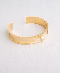 צמיד קוורץ לנשים: כסף טהור או זהב 24 קראט - צמידים