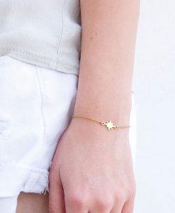 צמיד North - צמיד כוכב עדין מזהב או כסף לנשים- צמידים