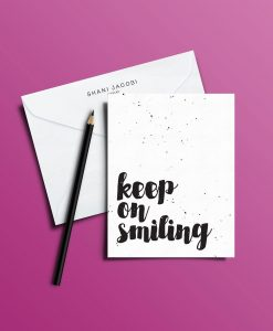 כרטיס ברכה מאויר של שני יעקובי Kepp on smiling