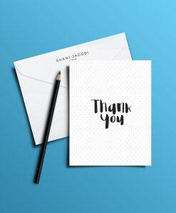כרטיס ברכה מאויר של שני יעקובי דגם Thank you