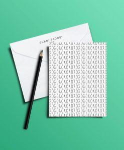 כרטיס ברכה מאוייר XOXO של שני יעקובי