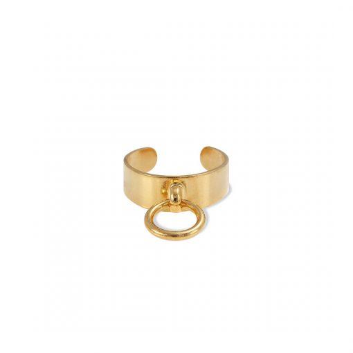 טבעת דורי קטנה זהב