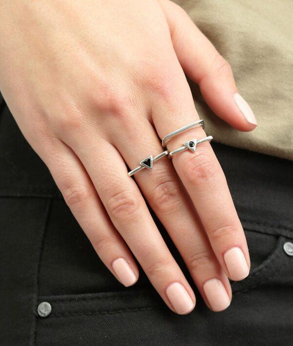 טבעת אנה + אנוק + סקיני קריסטל