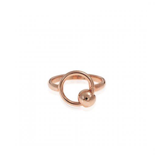 טבעת ראונד לאב זהב אדום
