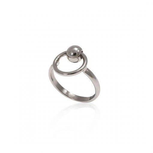 טבעת ראונד לאב כסף