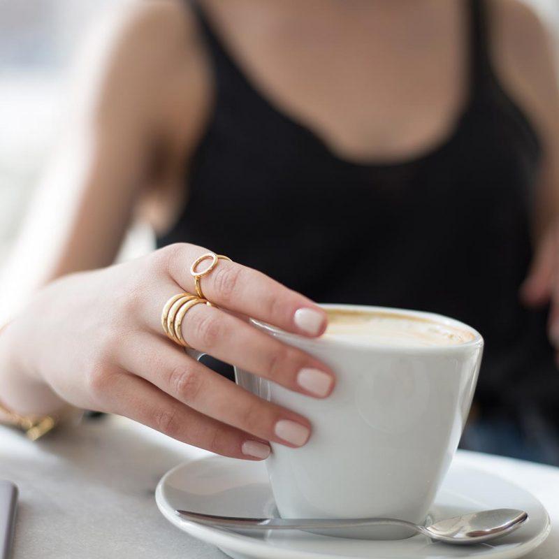 טבעות זהב וקפה