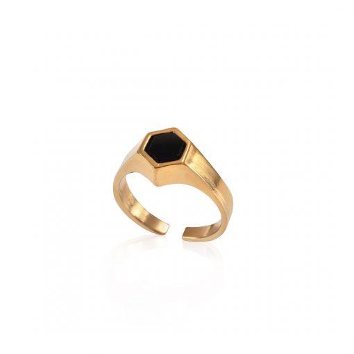 טבעת סולו זהב