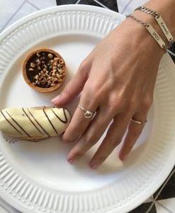 טבעת חישוק מכסף אמיתי