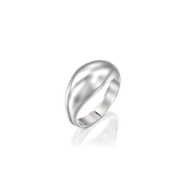 טבעת טיפה כסף