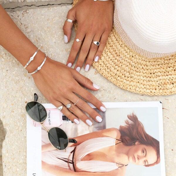 צמיד סאן רמו,טבעת שיה בלאק, טבעת מולאן משושה ,סט טבעות מונקו-,