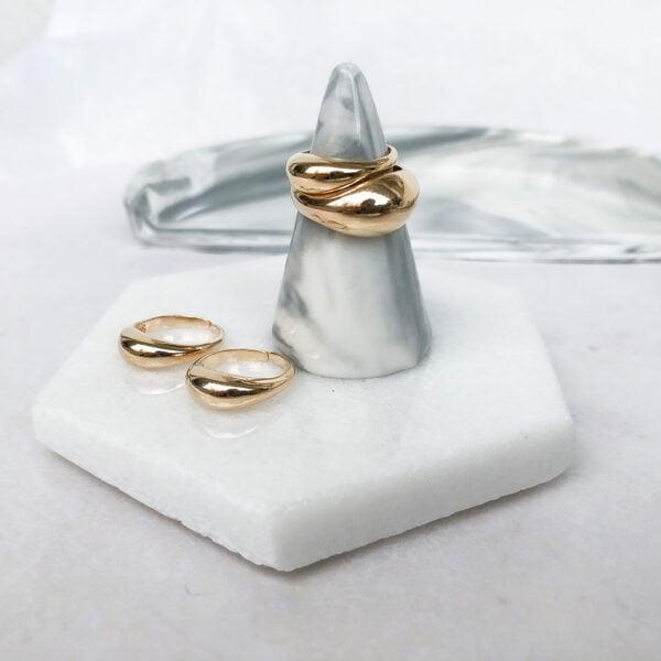 טבעת טיפה סלים וטבעת טיפה