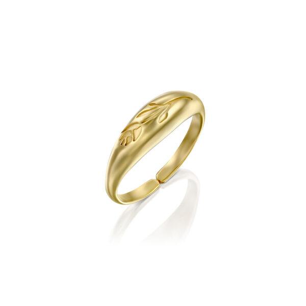טבעת ואלי זהב מדיום