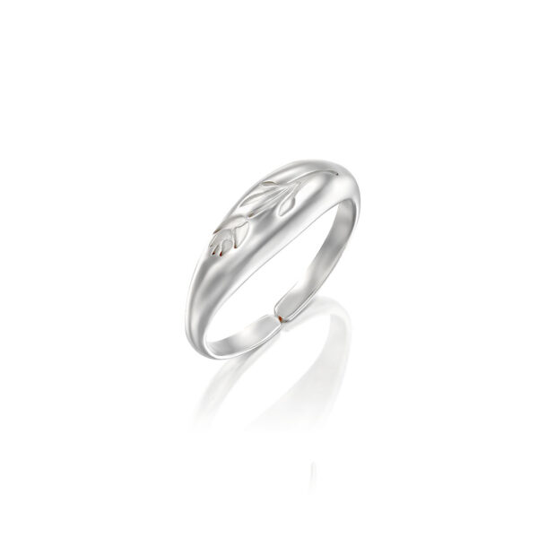 טבעת ווילדפלוואר כסף מדיום